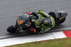 Andrea Dovizioso of Monster Yamaha Tech3. SEPANG, MALAYSIA-FEB 29:Andrea Dovizioso of Monster Yamaha Tech3 Team at 2012 MotoGP Winter Test 2 on Feb 29, 2012 in Royalty Free Stock Photo
