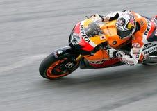 Andrea Dovizioso na ação em Sepang, Malaysia Fotos de Stock