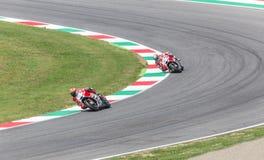 Andrea Dovizioso op Officiële Ducati MotoGP Stock Foto