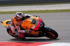 Andrea Dovizioso am ShellMalaysian Motogp Lizenzfreie Stockfotos