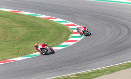 Andrea Dovizioso sul funzionario Ducati MotoGP Fotografia Stock