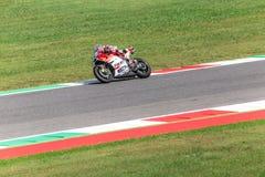 Andrea Dovizioso sur le fonctionnaire Ducati MotoGP Images libres de droits