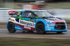 Andrea Dubourg Barcelona FIA Rallycross Światowy mistrzostwo Fotografia Stock