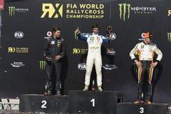 Andrea Dubourg-winnaar Barcelona FIA World Royalty-vrije Stock Fotografie