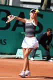 Andrea HLAVACKOVA (CZE) at Roland Garros 2010 Stock Image