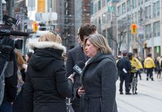 Andrea Horwath at Jim Flaherty State Funeral in To Royalty Free Stock Photo