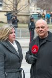 Andrea Horwath at Jim Flaherty State Funeral in To Royalty Free Stock Image