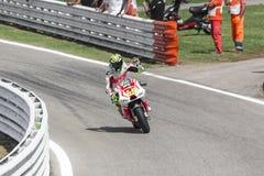 Andrea Iannone da competência da equipe de Ducati Pramac Fotografia de Stock Royalty Free