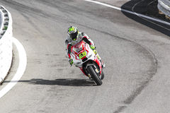 Andrea Iannone of Ducati Pramac team racing Royalty Free Stock Images