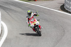 Andrea Iannone of Ducati Pramac team racing Royalty Free Stock Image
