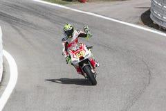 Andrea Iannone of Ducati Pramac team racing Royalty Free Stock Image