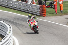 Andrea Iannone of Ducati Pramac team racing Royalty Free Stock Photography