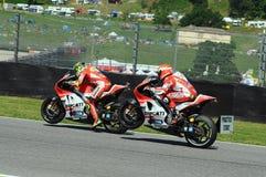 Andrea Iannone e Michele Pirro DUCATI MotoGP 2015 Royalty-vrije Stock Afbeelding