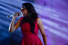 Andrea Jeremiah performing Stock Image