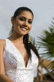 Andrea leon contestant beauty contest royalty free stock photos