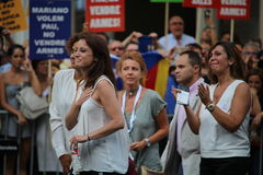 Andrea Levy at manifestation against terrorism Stock Photos
