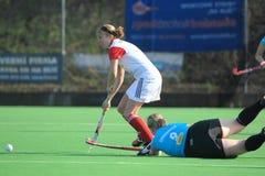 Andrea Matejkova - jugador de hockey checo de campo imagen de archivo