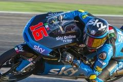 Andrea MIGNO Moto3 Grand Prix Movistar Aragà ³ ν Στοκ φωτογραφία με δικαίωμα ελεύθερης χρήσης
