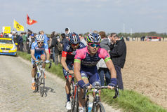 Andrea Palini - Paris Roubaix 2014 Royaltyfri Bild