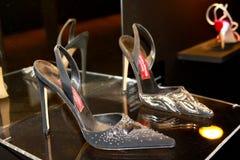 Andrea Pfister's shoes royalty free stock photo