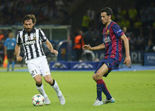 Andrea Pirlo and Sergio Busquets Royalty Free Stock Image