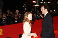 Andrea Riseborough and Clive Owen Stock Photo