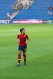 Andrea Sánchez. During UEFA Women's Under-19 Championship final Stock Photos