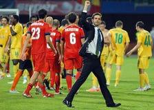Andrea Stramaccioni d'Internazionale Milano salue les fans Photos libres de droits