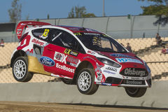 Andreas BAKKERUD Ford Fiesta Barcelona FIA World Foto de Stock Royalty Free