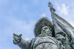 Andreas Hofer-standbeeld in Innsbruck Stock Fotografie