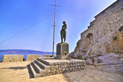 Andreas Miaoulis statue at Hydra Greece Royalty Free Stock Images