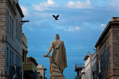 Andreas Miaoulis Statue. In Syros, Greece royalty free stock images