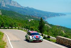 Andreas Mikkelsen on IRC PRIME Yalta Rally 2011 Royalty Free Stock Photography