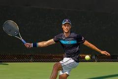 Andreas Seppi-spelen in Winston-Salem Open Stock Foto's