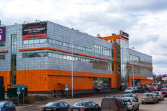 Andreevka,俄罗斯- 4月11 2016年 购物和娱乐复合体Energia 免版税库存照片