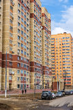 Andreevka, Russia - April 11.2016.  residential complex Uyutniy Stock Photography