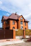 Andreevka, Russland - 11. April 2016 Allgemeine Ansicht der Kleinstadt in Solnechnogorsk-Bezirk Lizenzfreie Stockfotografie