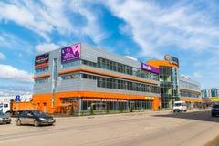 Andreevka Ryssland - April 11 2016 Shopping- och underhållningkomplex Energia Royaltyfri Fotografi