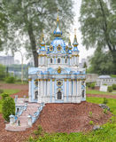 Andreevskayakerk in de stad Kiev De tempel ter ere van St Andrew eerste-Geroepen Royalty-vrije Stock Afbeeldingen