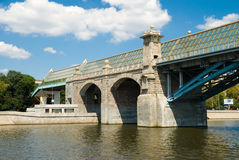 The Andreevsky bridge in Moscow Royalty Free Stock Photography