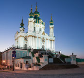 Andreevsky Church at night Stock Photos