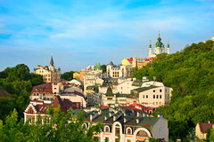 Andreevskyafdaling, Kiev, de Oekraïne Stock Afbeelding