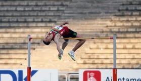 Andrei Churyla - золотые медалисты высокого прыжка стоковые изображения