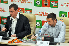 Andrei Vorobei and Darijo Srna Royalty Free Stock Image
