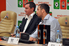 Andrei Vorobei and Darijo Srna Stock Photo