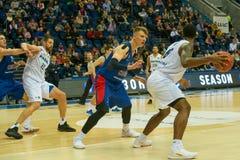 Andrei Vorontsevich 20 in defensie stock foto's