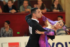 Andreicuka Anna and Krists Ciapas - ballroom dancing Stock Image