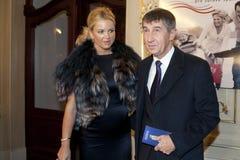 Andrej Babis y Monika Babisova Foto de archivo libre de regalías