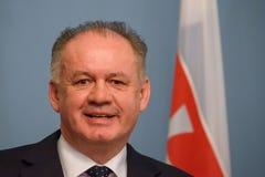 Andrej Kiska, President of Slovakia. 18.12.2018. RIGA, LATVIA. Press briefing of Andrej Kiska, President of Slovakia and Raimonds Vejonis, President of Latvia royalty free stock images