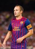 andres Barcelona fc Iniesta obraz royalty free